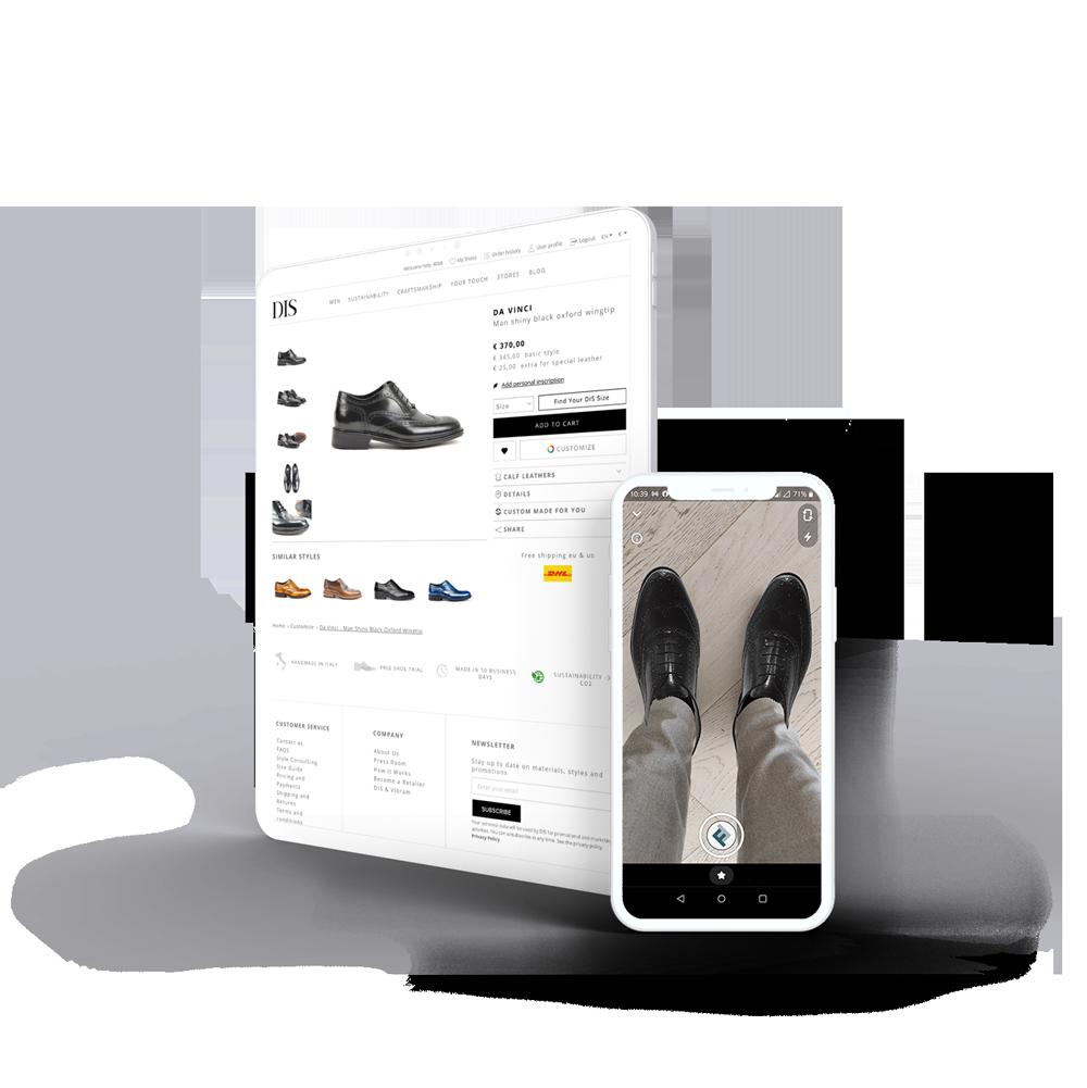 virtual try on scarpe